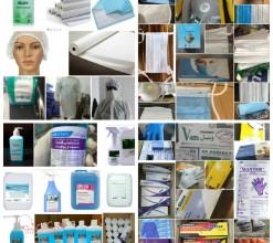 انواع دستکش ، ماسک ، البسه،محلول ضد عفونی کننده